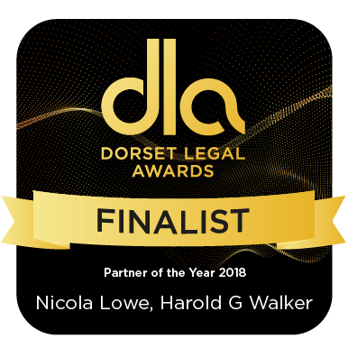 Finalist Dorset Legal Awards- Partner of the Year Award